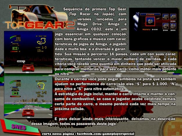 007 Top Gear 2 SNES